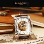 PARMIGIANI-03-3 型男必備礦物質強化玻璃雕花鏤空設計自動機械腕錶
