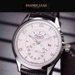 PARMIGIANI-04-5 全新男士閃亮銀配白底316精鋼錶殼進口石英腕錶