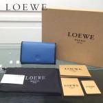 LOEWE 0132-04 人氣熱銷進口原版牛皮多卡位多隔層超大空間短夾錢包