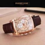 PARMIGIANI-01-5 商務男士兩針半系列土豪金配金底進口石英腕錶