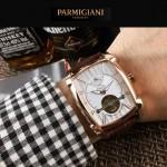 PARMIGIANI-010-3 潮流男士Kalpa系列土豪金配白底拱形鍍膜玻璃自動機械腕錶