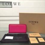 LOEWE L0117-06 潮流時尚新款進口原版牛皮多卡位拼色拉鏈款錢包