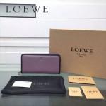 LOEWE L0117 潮流時尚新款進口原版牛皮多卡位拼色拉鏈款錢包