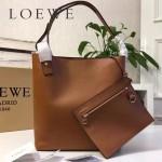 LOEWE 0239-01 潮流時尚新款Asymmetric bag系列進口原版細紋牛皮中號水桶包