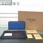 LOEWE L0117-04 潮流時尚新款進口原版牛皮多卡位拼色拉鏈款錢包