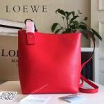 LOEWE 0238-03 潮流時尚新款Asymmetric bag系列進口原版細紋牛皮小號水桶包