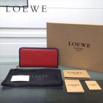 LOEWE L0117-01 潮流時尚新款進口原版牛皮多卡位拼色拉鏈款錢包