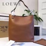 LOEWE 0250-01 潮流時尚新款Asymmetric bag系列進口原版細紋牛皮大號水桶包