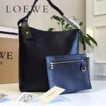 LOEWE 0239-02 潮流時尚新款Asymmetric bag系列進口原版細紋牛皮中號水桶包