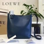 LOEWE 0238 潮流時尚新款Asymmetric bag系列進口原版細紋牛皮小號水桶包