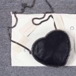 Stella McCartney-01-04 斯特拉經典的鏈條編織搭配心形高俊熙同款愛心鏈條斜挎包