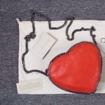 Stella McCartney-01-03 斯特拉經典的鏈條編織搭配心形高俊熙同款愛心鏈條斜挎包