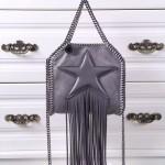 Stella McCartney-02-02 斯特拉超纖面料搭配超長流蘇五角星經典款小號流蘇包