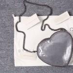 Stella McCartney-01-02 斯特拉經典的鏈條編織搭配心形高俊熙同款愛心鏈條斜挎包