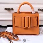 Boyy-01-2 潮人街拍款Bobby 23土黃色原版皮大方扣皮帶手提包