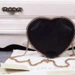 Stella McCartney-01 斯特拉經典的鏈條編織搭配心形高俊熙同款愛心鏈條斜挎包