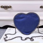 Stella McCartney-01-05 斯特拉經典的鏈條編織搭配心形高俊熙同款愛心鏈條斜挎包