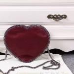 Stella McCartney-01-01斯特拉經典的鏈條編織搭配心形高俊熙同款愛心鏈條斜挎包