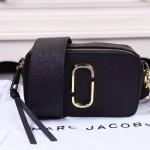 Marc Jacobs-02-5 春夏新款snapshot黑色原版皮吉他背帶相機包
