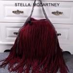 Stella McCartney-012-01 斯特拉秋冬新款潮流時尚高圓圓同款大號流蘇鏈條包