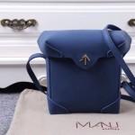 Manu Atelier-05-6 劉雯左岸瀟同款藍色牛皮中號單肩斜挎包