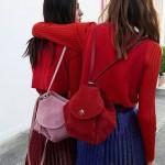 Manu Atelier-01-2 潮流新款Fernweh粉色鹿皮絨單肩包雙肩包書包
