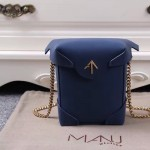 Manu Atelier-03-4 劉雯左岸瀟同款藍色牛皮mini鏈條單肩斜挎包