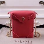 Manu Atelier-03-2 劉雯左岸瀟同款紅色牛皮mini鏈條單肩斜挎包