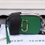 Marc Jacobs-02-3 春夏新款snapshot綠色拼色原版皮吉他背帶相機包