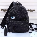 Chiara Ferragni-03 米蘭時尚博主眨眼睛設計黑色mini號雙肩包書包