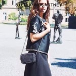 Stella McCartney-017 斯特拉潮流時尚鉚釘系列黑色單肩鏈條包