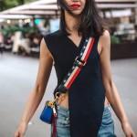 Marc Jacobs-02 春夏新款snapshot紅色拼色原版皮吉他背帶相機包