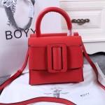 Boyy-03-5 潮流百搭新款lucas紅色原版皮大方扣皮帶手提單肩包