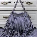 Stella McCartney-014-02 斯特拉秋冬新款潮流時尚高圓圓同款中號流蘇鏈條包