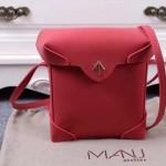 Manu Atelier-05-5 劉雯左岸瀟同款紅色牛皮中號單肩斜挎包