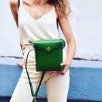 Manu Atelier-04-4 時尚新寵兒劉雯左岸瀟同款綠色牛皮大號單肩斜挎包