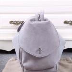 Manu Atelier-01 潮流新款Fernweh淺灰色鹿皮絨單肩包雙肩包書包