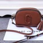 Marc Jacobs-01-2 歐陽娜娜袁姍姍同款shutter土黃色牛皮單肩斜挎包相機包