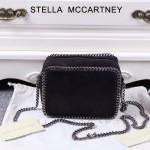 Stella McCartney-017-01 斯特拉潮流時尚新款黑色單肩鏈條包