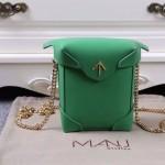 Manu Atelier-03-3 劉雯左岸瀟同款綠色牛皮mini鏈條單肩斜挎包