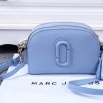 Marc Jacobs-01-3 歐陽娜娜袁姍姍同款shutter淺藍色牛皮單肩斜挎包相機包