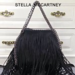 Stella McCartney-014-01 斯特拉秋冬新款潮流時尚高圓圓同款中號流蘇鏈條包
