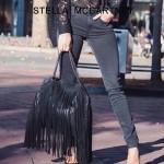 Stella McCartney-012-05 斯特拉秋冬新款潮流時尚高圓圓同款大號流蘇鏈條包