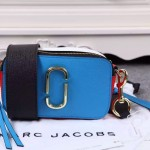 Marc Jacobs-02-6 春夏新款snapshot藍色拼色原版皮吉他背帶相機包