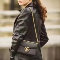 GUCCI 401232-01 專櫃新款女士全皮手拿斜背包