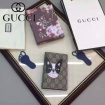 GUCCI 424894-2 人氣熱銷女士卡通圖案系列藍色配PVC中長款卡包