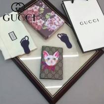 GUCCI 424894 人氣熱銷女士卡通圖案系列紫色配PVC中長款卡包