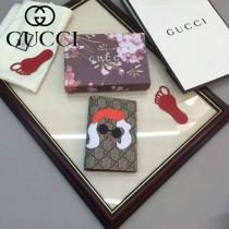 GUCCI 424894-4 人氣熱銷女士卡通圖案系列紅色配PVC中長款卡包