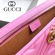 GUCCI 443550 人氣熱銷女士粉色全皮大容量手拿包收納包
