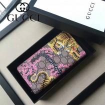 GUCCI 451168 專櫃新款女士老虎塗鴉印花長款拉鏈錢包